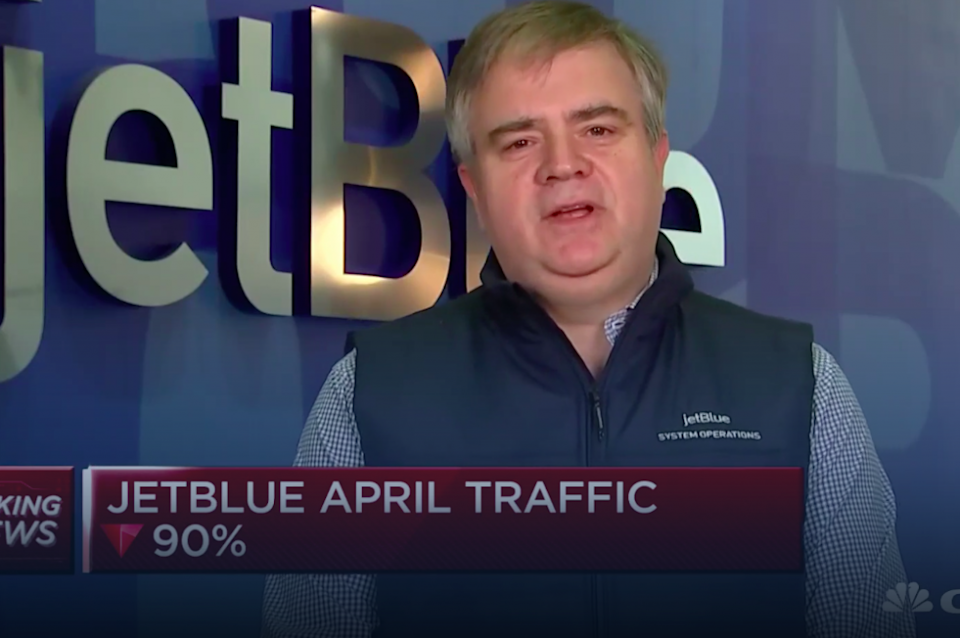 JetBlue CEO Robin Hayes: Coronavirus Testing Will Be Key for Airlines' Recovery