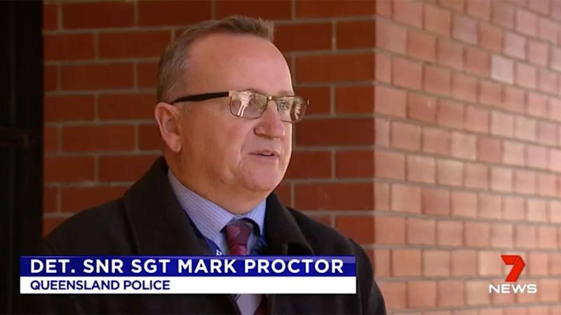 Senior Sergeant Proctor addressed the media about the horrific attack. Source: 7 News
