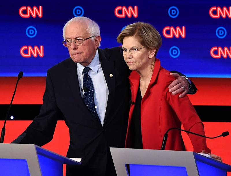 Sanders and Warren Supporters Are Fighting Over a Story That He Told Her Women Can't Win