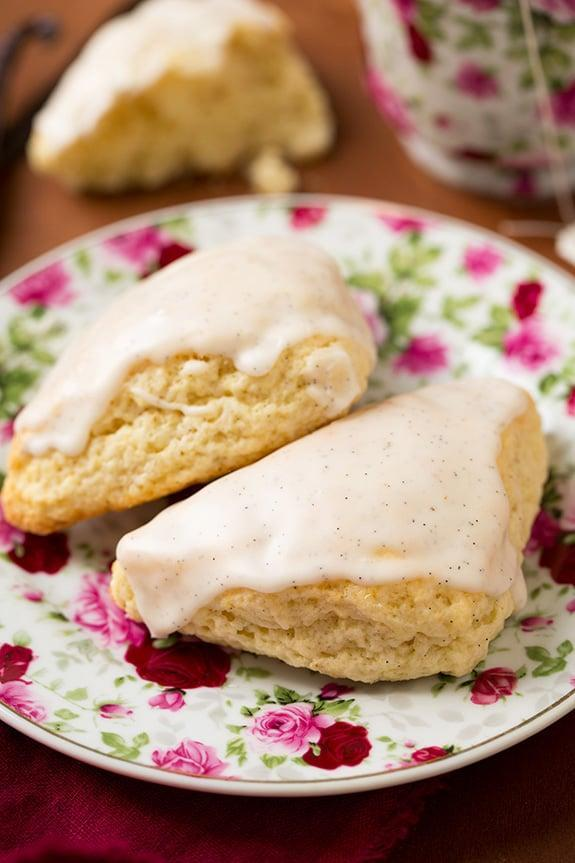 """<p>Moist, fluffy, and full of vanilla flavor, this petite scone pairs well with a hot cup of coffee or a cold glass of hibiscus tea.</p> <p><strong>Original Starbucks Food:</strong> <a href=""""http://www.starbucks.com/menu/food/bakery/petite-vanilla-bean-scone"""" class=""""link rapid-noclick-resp"""" rel=""""nofollow noopener"""" target=""""_blank"""" data-ylk=""""slk:petite vanilla bean scone"""">petite vanilla bean scone</a></p> <p><strong>Homemade Version:</strong> <a href=""""http://www.cookingclassy.com/2015/05/petite-vanilla-bean-scones-with-vanilla-bean-glaze/"""" class=""""link rapid-noclick-resp"""" rel=""""nofollow noopener"""" target=""""_blank"""" data-ylk=""""slk:petite vanilla bean scones with vanilla bean glaze"""">petite vanilla bean scones with vanilla bean glaze</a></p>"""