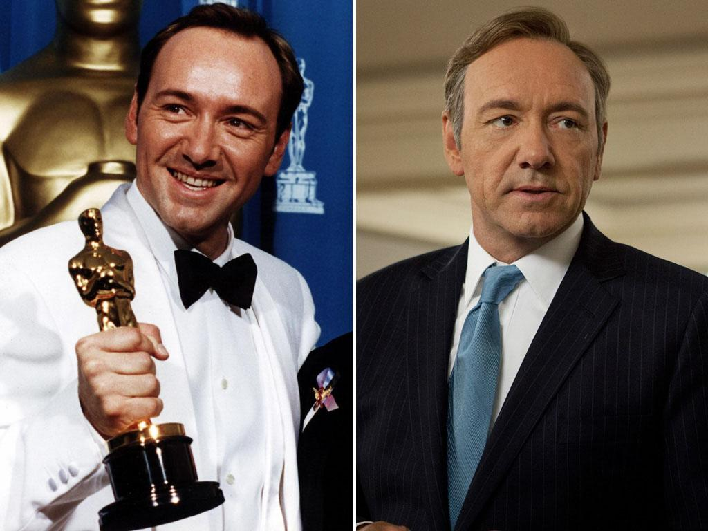 "<strong>Kevin Spacey</strong><br /><br /> Won For: Playing con-man criminal Verbal Kint in 1995's ""The Usual Suspects,"" and then again for his role as disgruntled family man Lester Burnham in 1999's ""American Beauty.""<br /><br /> Now He Plays: Gleefully amoral congressman Frank Underwood on Netflix's ""House of Cards."""