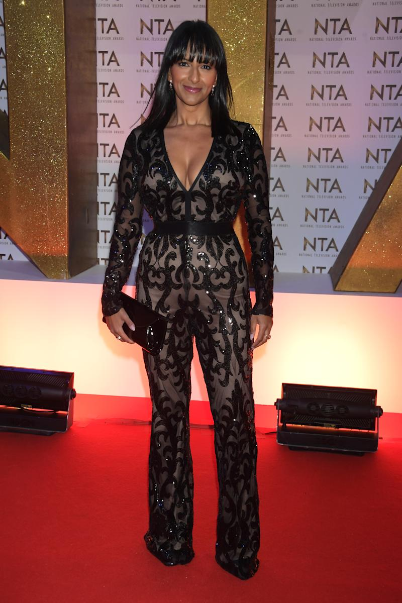 Ranvir Singh attends the National Television Awards 2020 at The O2 Arena on January 28, 2020 in London, England.