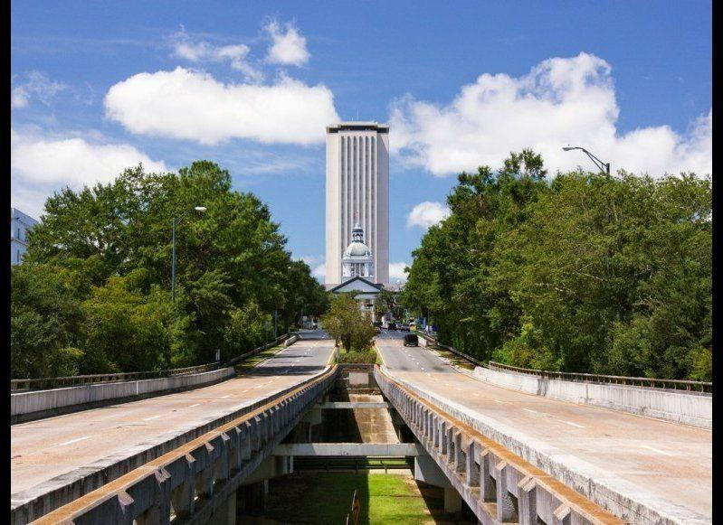 <strong>FLORIDA STATE CAPITOL</strong> Tallahassee, Florida Year completed: 1977 <strong>Architectural style</strong>: New Classicism <strong>FYI: </strong>The current 22-story state capitol towers over its predecessor, a Classical Revival building completed in 1845 that is now the Florida Historic Capitol Museum. Try to spot it from the new capitol's observation deck, located on the 22nd floor, 307 feet in the air. <strong>Visit:</strong> Self-guided tours are available Monday through Friday, from 8 a.m. to 5 p.m., except for weekday holidays. Groups of 15 people or more can arrange a guided tour during the week.