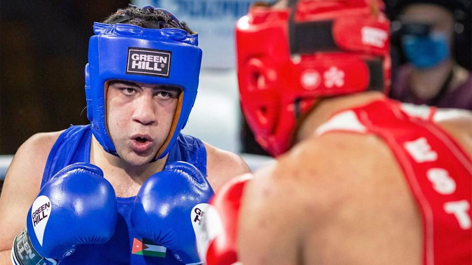 Pictured here, Rashed Al-Swaisat at the International Boxing Association (AIBA) world youth championships.
