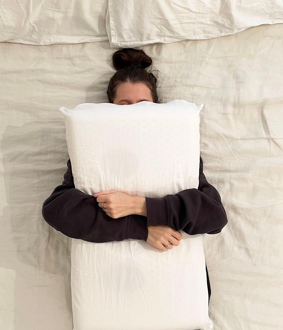 """<br><strong>What it did: </strong>Helped me to sleep in a more comfortable position with less shoulder and neck discomfort.<br><br><strong>What it didn't do:</strong> Help me fall asleep faster or stay asleep longer.<br><br><strong>My Bedtime Story:</strong> I was excited to try this pillow because I'm a side sleeper who always wakes up with shoulder pain (I told you, I'm an achy person). The Turiya pillow is firm and supportive, but it's also soft and comfortable. As Coyuchi mentions, it did take a few nights for me to get used to sleeping with my head in the designated position — but, otherwise, my neck felt supported with less pressure on my ear and shoulder. I liked this a lot more than I thought I would!<br><br><strong>Who it's best for:</strong> Back and side sleepers.<br><br><strong>Coyuchi</strong> Turiya™ Organic Latex Pillow, $, available at <a href=""""https://go.skimresources.com/?id=30283X879131&url=https%3A%2F%2Fwww.coyuchi.com%2Fturiya-organic-latex-pillow.html"""" rel=""""nofollow noopener"""" target=""""_blank"""" data-ylk=""""slk:Coyuchi"""" class=""""link rapid-noclick-resp"""">Coyuchi</a>"""