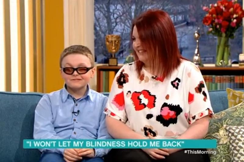 Brave: Declan Bitmead has Steven-Johnson syndrome (ITV)