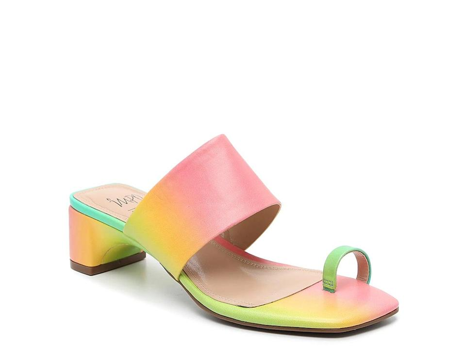 <p>Because we can't say no to a little rainbow, get these <span>Impo Gio Sandals</span> ($40).</p>