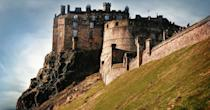 """<p>No visit to Edinburgh is complete without a visit to <a href=""""https://www.edinburghcastle.scot/"""" rel=""""nofollow noopener"""" target=""""_blank"""" data-ylk=""""slk:Edinburgh Castle"""" class=""""link rapid-noclick-resp"""">Edinburgh Castle</a>, dominating the city from high up on its volcanic plug. </p><p>Venture inside to see the Scottish Crown Jewels and various items from the country's history, including the Stone of Scone. And, if you're visiting in August, then make sure you time your visit with the Royal Edinburgh Military Tattoo (cancelled for 2021, back in 2022), a performance of the pipes and drums of Scottish regiments. The Scottish tradition is so popular that almost a quarter of a million people gather each year. </p><p>The castle has introduced limits on visitor numbers to help keep everyone safe, and you will not be able to visit without booking in advance online. </p><p><a class=""""link rapid-noclick-resp"""" href=""""https://go.redirectingat.com?id=127X1599956&url=https%3A%2F%2Fwww.booking.com%2Flandmark%2Fgb%2Fedinburgh-castle.en-gb.html%3Faid%3D2070936%26label%3Dprima-edinburgh-kids&sref=https%3A%2F%2Fwww.prima.co.uk%2Ftravel%2Fg34809522%2Fedinburgh-with-kids%2F"""" rel=""""nofollow noopener"""" target=""""_blank"""" data-ylk=""""slk:HOTELS NEAR EDINBURGH CASTLE"""">HOTELS NEAR EDINBURGH CASTLE</a></p>"""