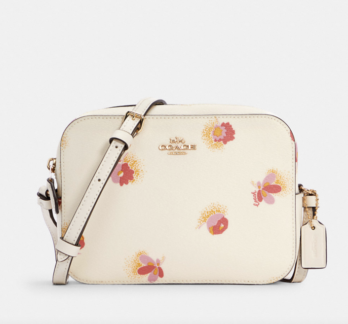 white coach outlet Mini Camera Bag with Pop Floral Print