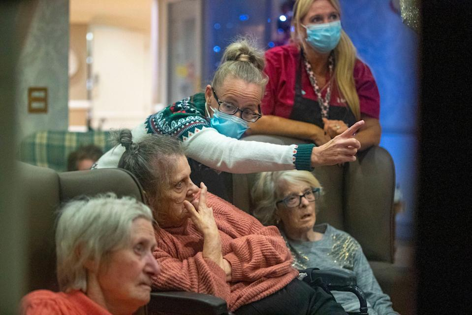 A file picture of a residents in a care home in Liverpool during coronavirus lockdown. (PA)