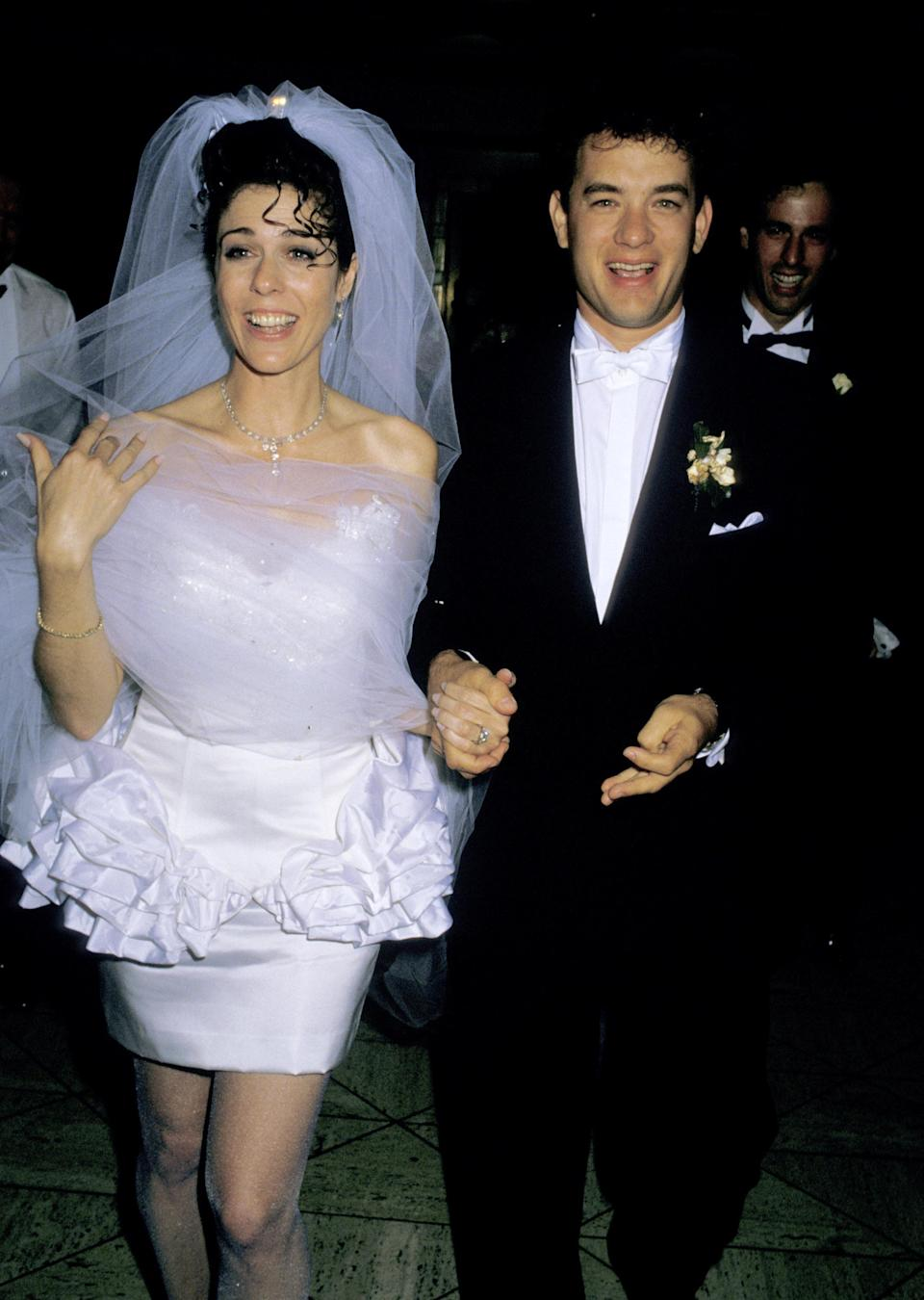 Wilson and Hanks at their wedding reception on April 30, 1988. (Photo: Ron Galella/WireImage)