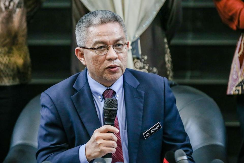 Health Minister Datuk Seri Dr Adham Baba said the government will provide the vaccines for free, with a target of 80 per cent of the population or 26 million people. — Picture by Firdaus Latif