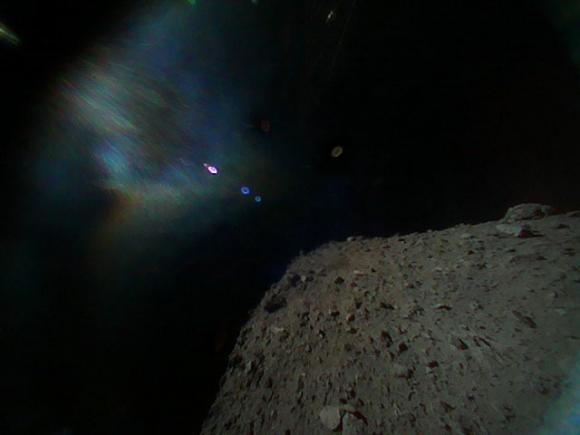 The Japanese probe has successfully sat on an asteroid