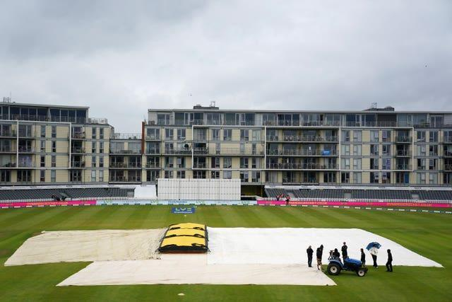 Rain brought an early end to day three of the Test match in Bristol