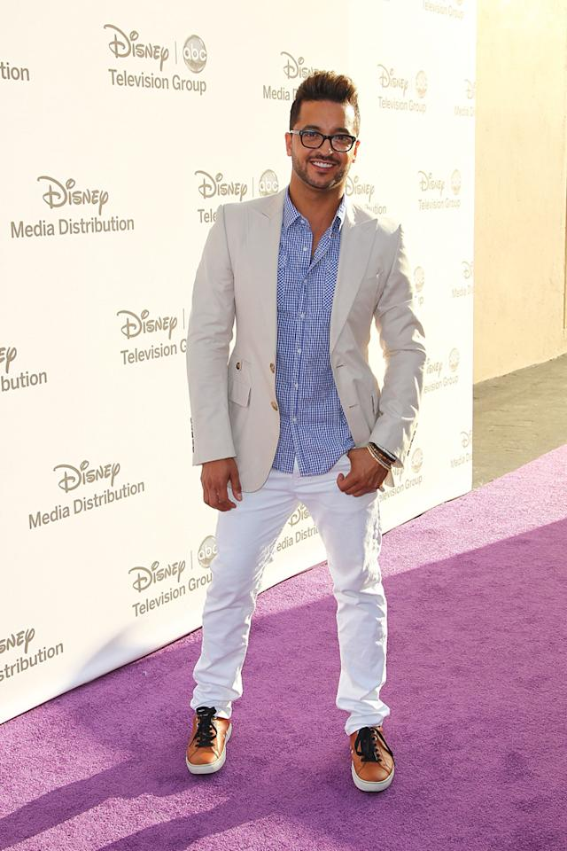"Jai Rodriguez (""Malibu Country"") attends the Disney Media Networks International Upfronts held at Walt Disney Studios on May 20, 2012 in Burbank, California."