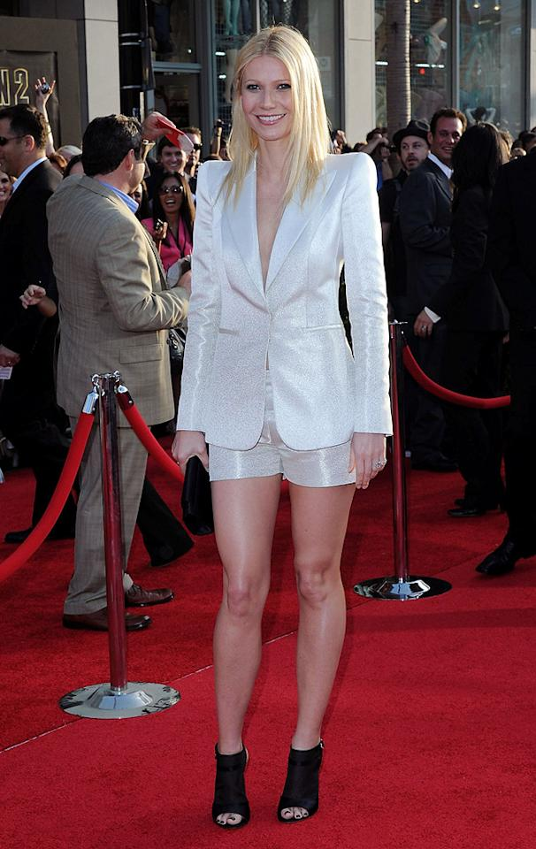 """<a href=""""http://movies.yahoo.com/movie/contributor/1800018601"""">Gwyneth Paltrow</a> at the Los Angeles premiere of <a href=""""http://movies.yahoo.com/movie/1810026429/info"""">Iron Man 2</a> - 04/26/2010"""