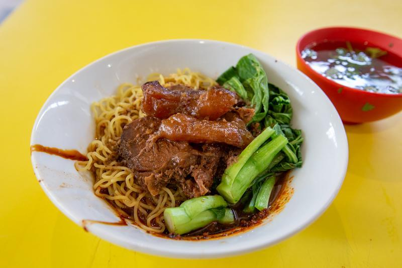 Bowl of beef noodles from Lao Jie Fang