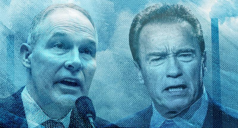 Scott Pruitt and Arnold Schwarzenegger
