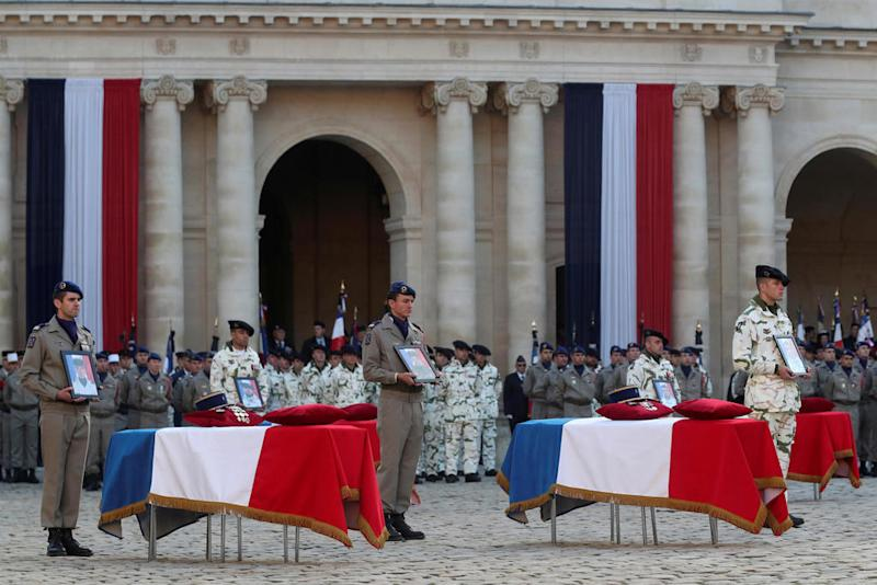 'They died to protect the people in the Sahel,' Macron says in tribute to fallen French troops