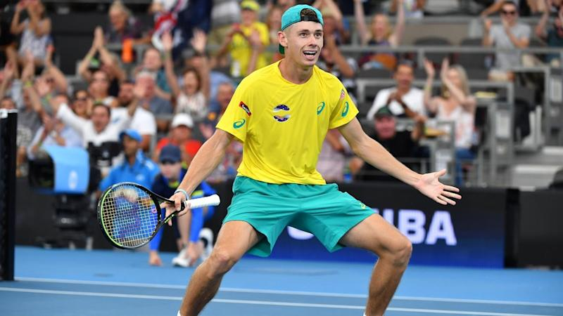 Alex de Minaur will watch Australia's ATP Cup tie against Greece from the stands