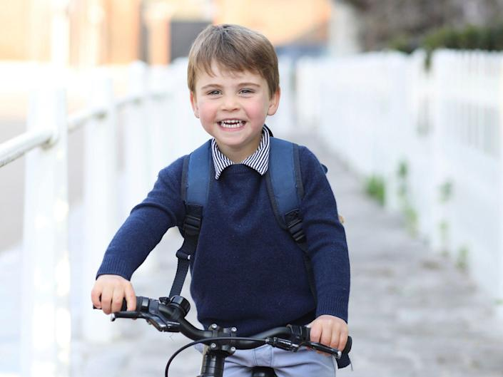 Prince Louis on his first day of school.