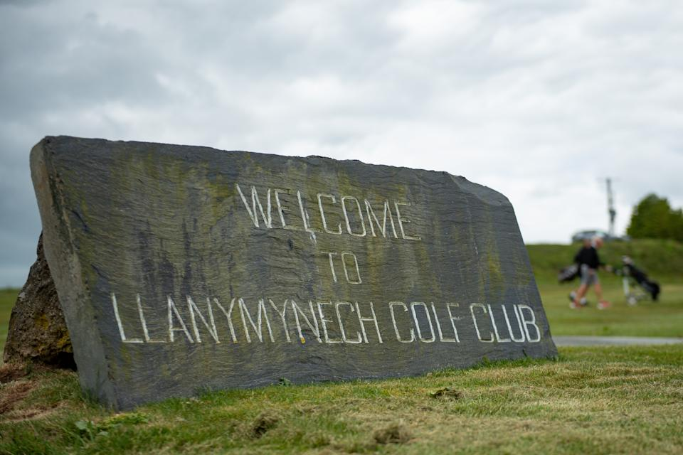 Llanymynech Golf Club, Oswestry, where the course crosses the border of England and Wales. The course faces uncertainty as lockdown restrictions on golf are lifted in England from today, but remain in force in Wales.