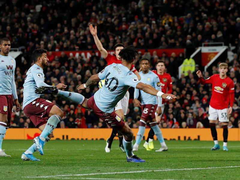 Aston Villa's Tyrone Mings scores their second goal: REUTERS