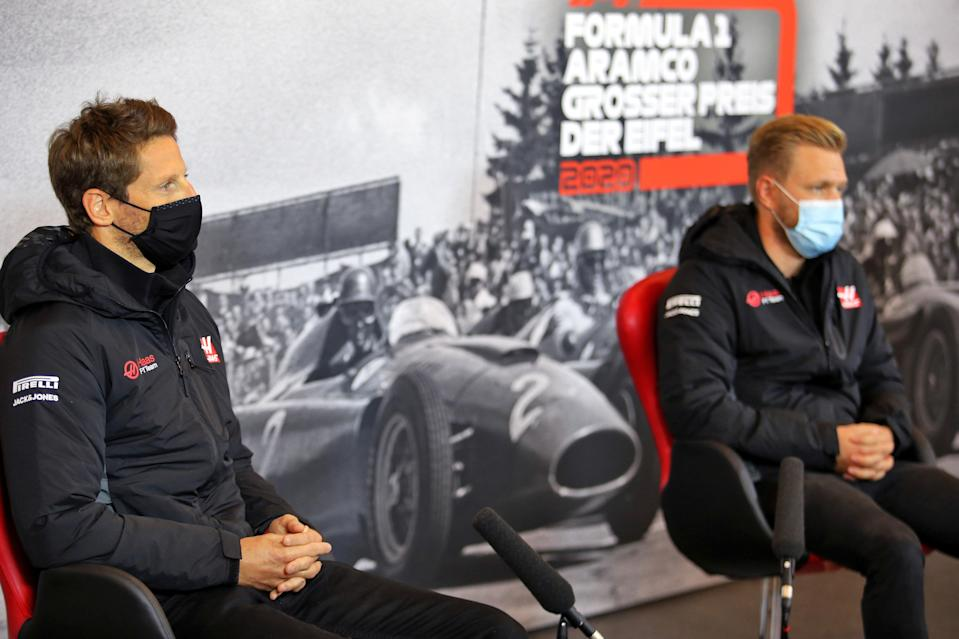 Romain Grosjean and Kevin Magnussen will both leave Haas at the end of the season (Getty Images)