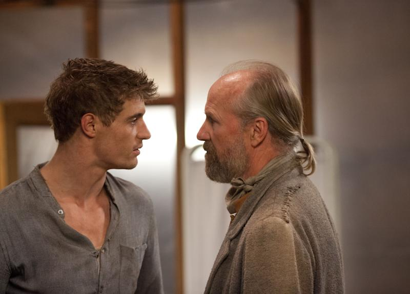 "This film image released by Open Road Films shows Max Irons, left, and William Hurt in a scene from ""The Host."" (AP Photo/Open Road Films, Alan Markfield)"