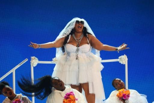 Lizzo, shown here at the 2019 BET awards, is the Grammy frontrunner with eight nominations