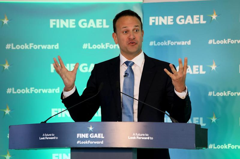 Ireland's Prime Minister Leo Varadkar looks set to lose ground in the election: AFP via Getty Images