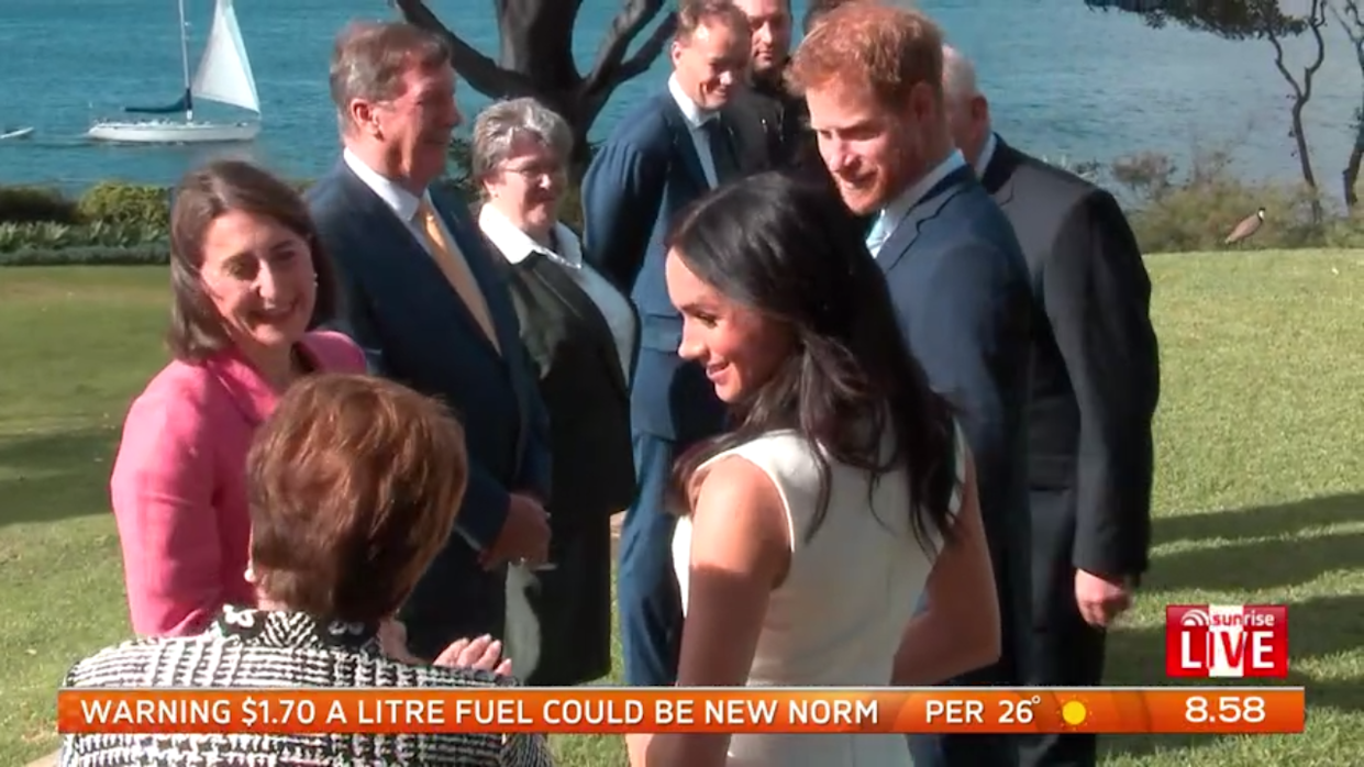 The pair also met the NSW Premier and Ian Thorpe. Photo: Channel 7/Sunrise