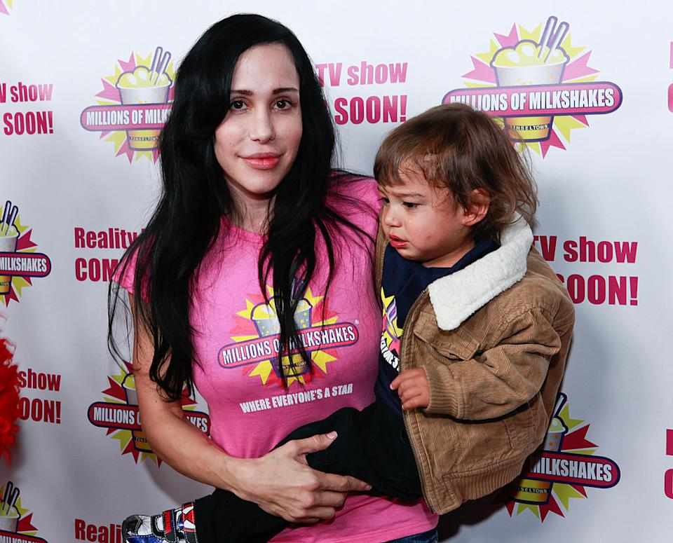"""Natalie """"Octomom"""" Suleman's octuplets are celebrating their 11th birthday. (Photo: Tiffany Rose/WireImage)"""