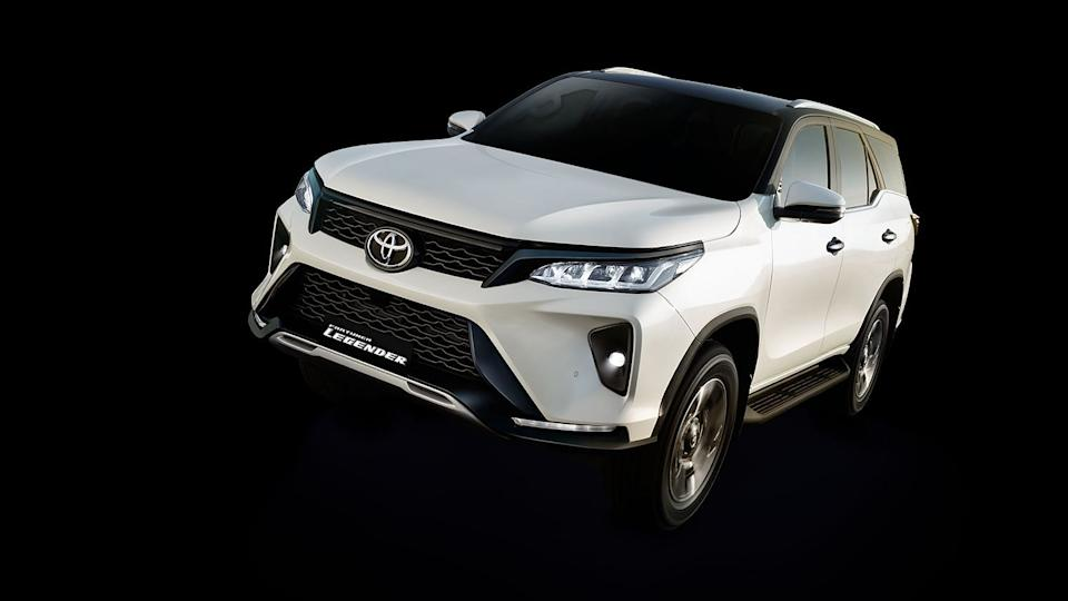 The new Toyota Fortuner has redesigned alloy wheels, headlamp and bumper.