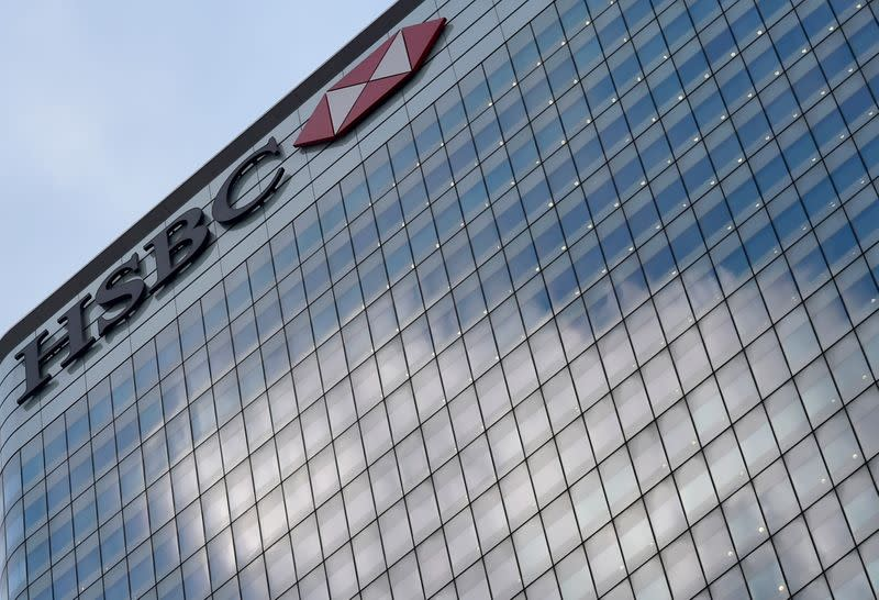 FILE PHOTO:  The HSBC headquarters is seen in the Canary Wharf financial district in east London