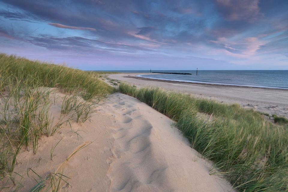 """<p>This Blue Flag beach is a wide, sandy spot that's one of the most eastern beaches in Norfolk. It's a quiet beach and village, surrounded by unspoilt areas of natural beauty. The beach is safe for children and certain areas are open to dogs. </p><p>The Norfolk Wildlife Trust Reserve at Hickling is just five miles away, and the nearby rural beach of Waxham (dog-friendly all year round) is great for seal-spotting. Sea Palling itself has a range of cafes, shops and arcades for that traditional British seaside holiday feel on a small scale.</p><p><strong>Where to stay: </strong><a href=""""https://go.redirectingat.com?id=127X1599956&url=https%3A%2F%2Fwww.booking.com%2Fhotel%2Fgb%2Fthe-ingham-swan.en-gb.html%3Faid%3D2070936%26label%3Dnorfolk-beaches&sref=https%3A%2F%2Fwww.redonline.co.uk%2Ftravel%2Ftravel-guides%2Fg34735930%2Fnorfolk-beaches%2F"""" rel=""""nofollow noopener"""" target=""""_blank"""" data-ylk=""""slk:The Ingham Swan"""" class=""""link rapid-noclick-resp"""">The Ingham Swan</a> is a 14th century coaching inn oozing olde-world charm with chic and modern interiors.</p><p><a class=""""link rapid-noclick-resp"""" href=""""https://go.redirectingat.com?id=127X1599956&url=https%3A%2F%2Fwww.booking.com%2Fhotel%2Fgb%2Fthe-ingham-swan.en-gb.html%3Faid%3D2070936%26label%3Dnorfolk-beaches&sref=https%3A%2F%2Fwww.redonline.co.uk%2Ftravel%2Ftravel-guides%2Fg34735930%2Fnorfolk-beaches%2F"""" rel=""""nofollow noopener"""" target=""""_blank"""" data-ylk=""""slk:CHECK AVAILABILITY"""">CHECK AVAILABILITY</a></p>"""