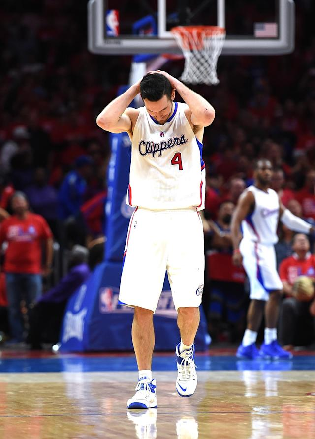 J.J. Redick reacts. (Harry How/Getty Images)