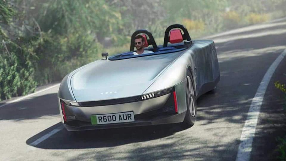Aura concept electric car, with over 640km range, breaks cover