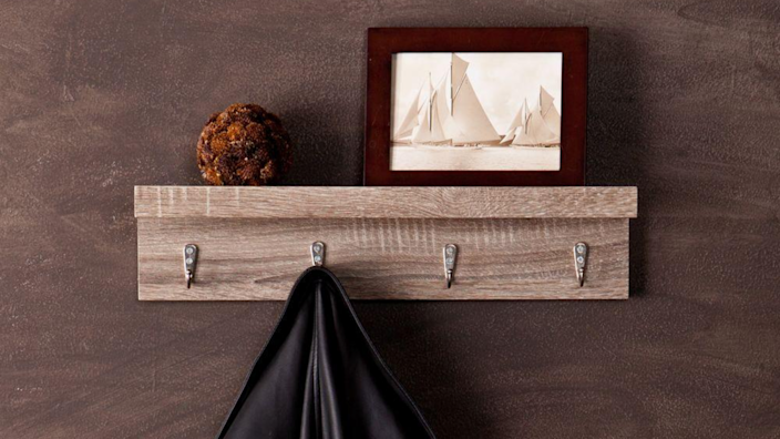 For those of us who can't have a mud room, investing in a nice coat rack is practically mandatory.