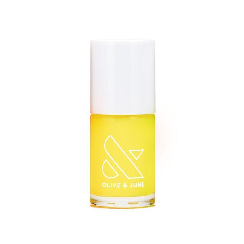 We love that Olive & June named this nail polish color exactly what your four-year-old niece would've named it if given the opportunity. Lemony Lemon is the perfect description for this sunshiny, candy-bright, smiley-face shade of yellow, and you definitely won't sour on it by the end of summer. Break this baby out all year long for instant optimism.