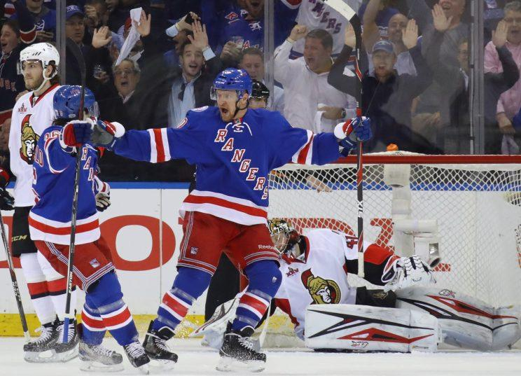 National Hockey League : the Rangers have established parity in the series with
