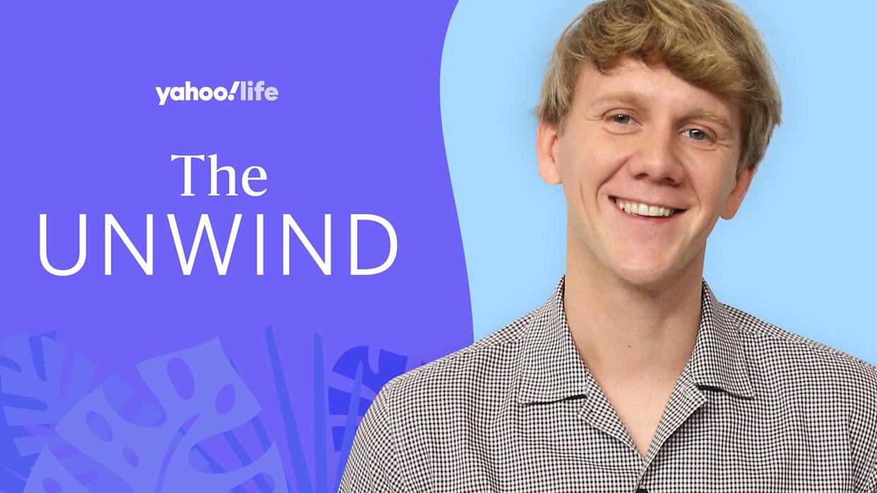 Josh Thomas talks about his mental health. (Photo: Getty Images; designed by Quinn Lemmers)
