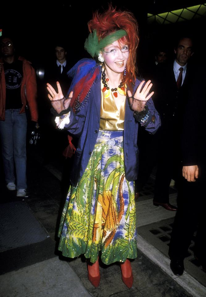 "Lauper made her colourful debut at the 1984 Grammy Awards, showing off her eccentric sense of style with her multicolour headband, teased red hair and over-the-top makeup. The ""Girls Just Want To Have Fun"" singer took home the award for Best New Artist, but her next win wouldn't come until 2013, when she won for Best Musical Theatre Album for the play ""Kinky Boots."""