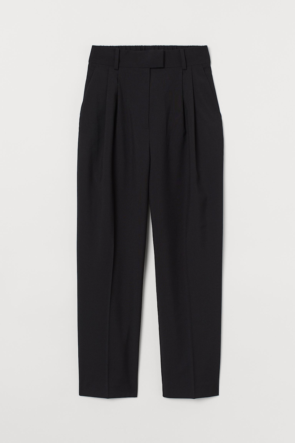 """<br><br><strong>H&M</strong> Creased Pants, $, available at <a href=""""https://go.skimresources.com/?id=30283X879131&url=https%3A%2F%2Fwww2.hm.com%2Fen_us%2Fproductpage.0909721001.html"""" rel=""""nofollow noopener"""" target=""""_blank"""" data-ylk=""""slk:H&M"""" class=""""link rapid-noclick-resp"""">H&M</a>"""
