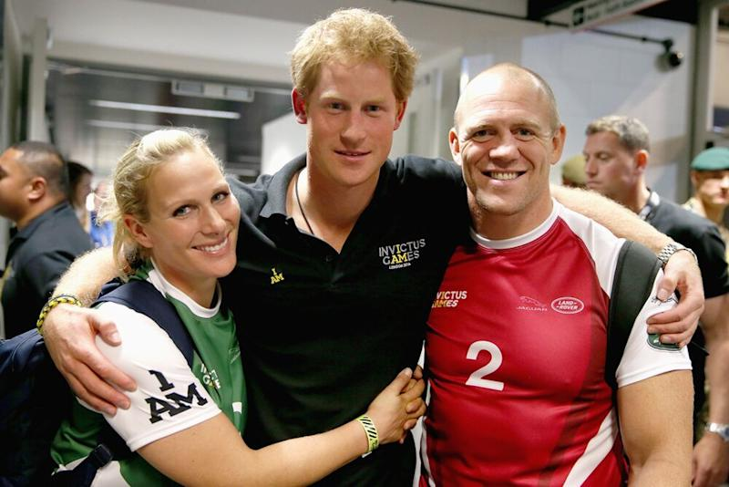 Zara Tindall, Prince Harry and Mike Tindall | Chris Jackson/Getty