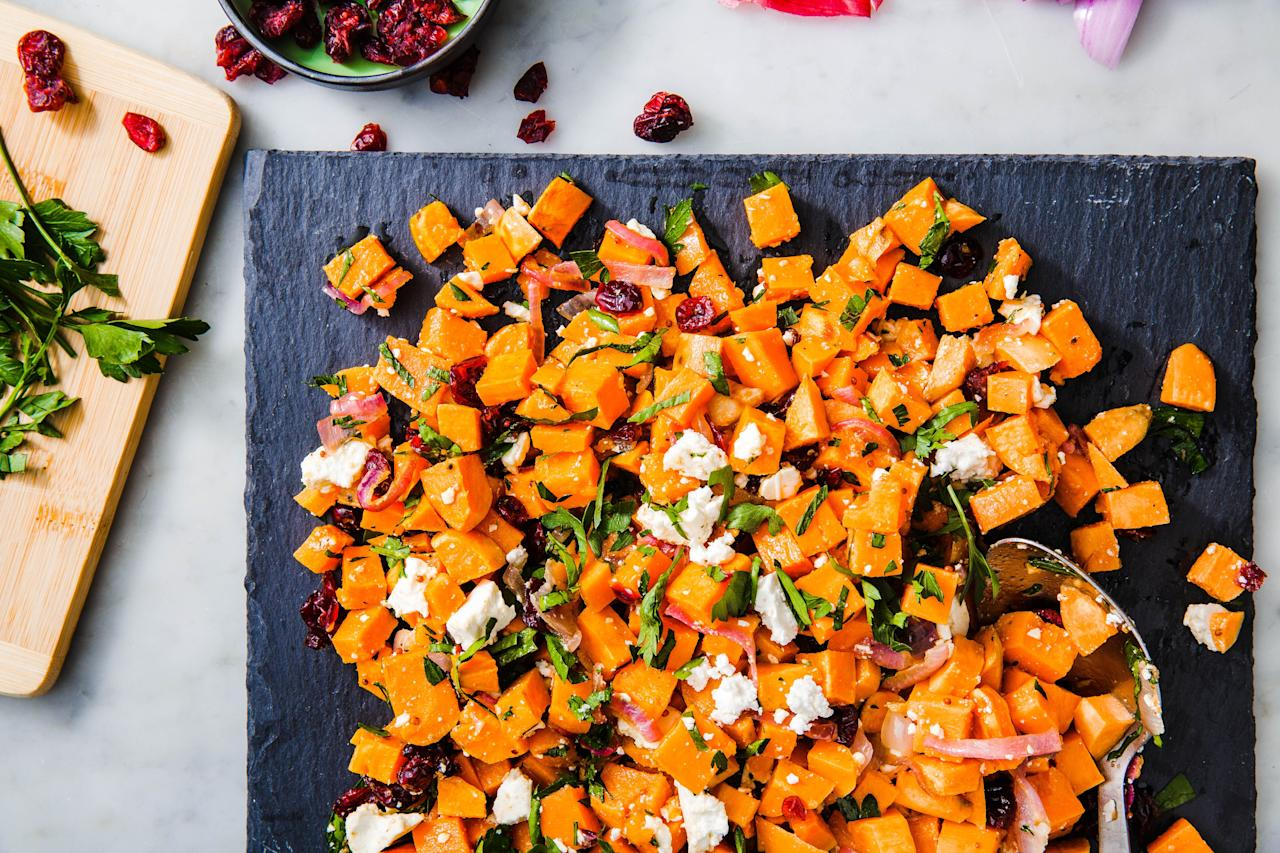 """<p>Now that summer's over, baked goods, soups, and warm casseroles basically take over our meal planning. But these healthy, delish salads will balance out all the <a rel=""""nofollow"""" href=""""https://www.delish.com/cooking/g1770/best-pumpkin-recipes/"""">pumpkin-flavored</a> goodness. They're stuffed with all the best fresh fall produce, from apples to squash to cranberries. Looking for more ways to use your apple haul? Check out this <a rel=""""nofollow"""" href=""""https://www.delish.com/food-news/a23009481/chart-how-to-use-all-apples-fall/"""">handy apple chart</a>.</p>"""