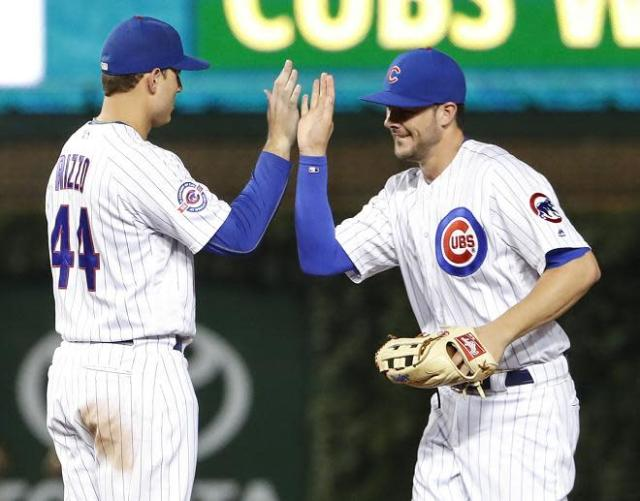Anthony Rizzo, left, and Kris Bryant represent the heart and soul of the 2016 Chicago Cubs. (AP)