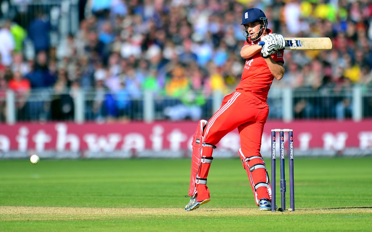 England's Alex Hales bats during the second NatWest International T20 at the Emirates Durham ICG, Durham.
