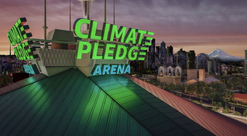 Climate Pledge Arena rendering. (NHLSeattle/Twitter)