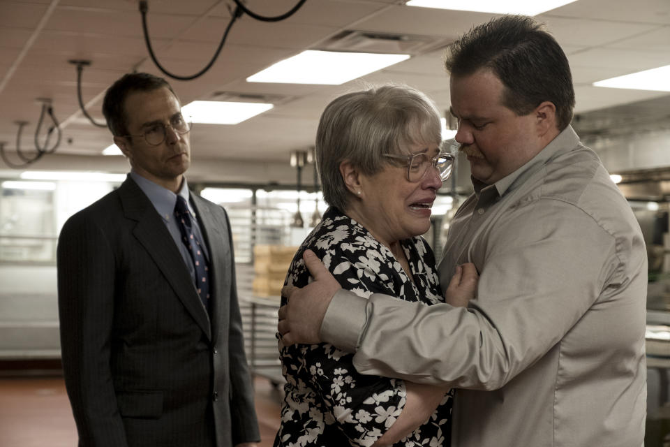 Sam Rockwell, Kathy Bates and Paul Walter Hauser in Clint Eastwood's controversial new drama 'Richard Jewell' (Photo: Claire Folger/Warner Bros.)